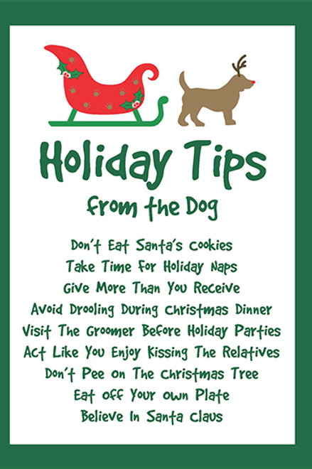 Holiday- Holiday Tips From the Dog