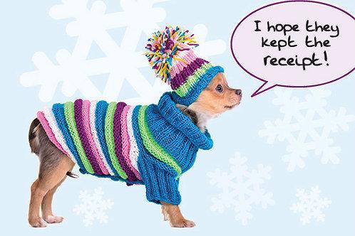 Holiday- I hope they kept the receipt!