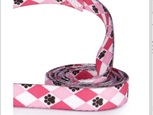 Pink Pawprint Leash