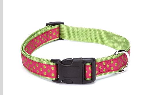 Pink Polka Dot Collar