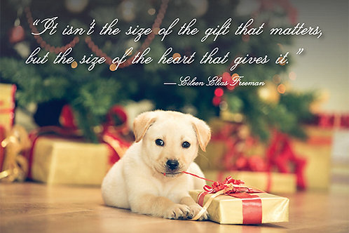 Holiday- It isn't the size of the gift that matters...