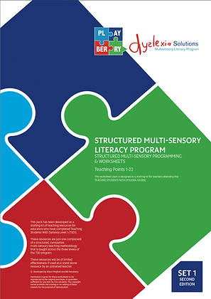 STRUCTURED MULTI-SENSORY LITERACY PROGRAM Structured Programming and Worksheets