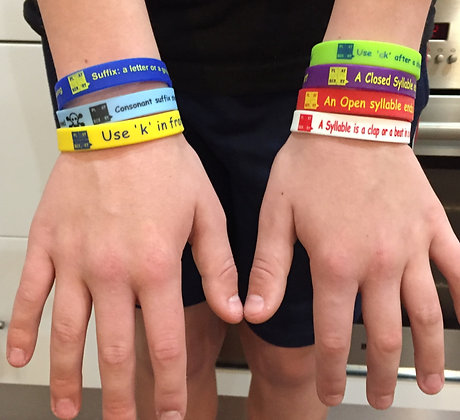 Spelling Rules and Concept Wristbands - combination packs