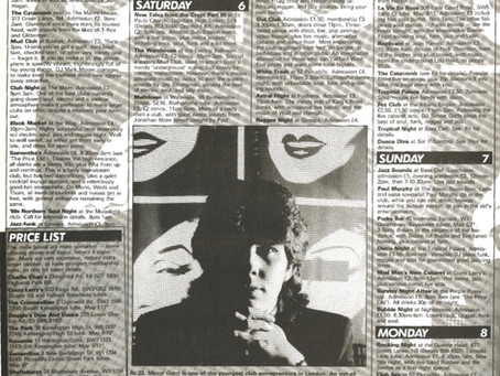 TIME OUT magazine 1984