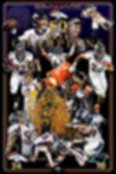 Denver Broncos artwork, custom poster design, graphic design, illustration, logo design