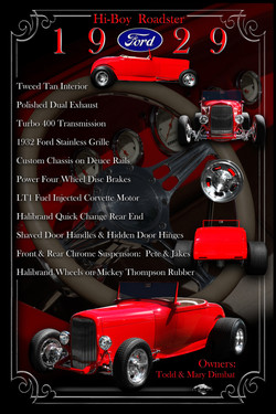 1929 Ford Roadster Display Board