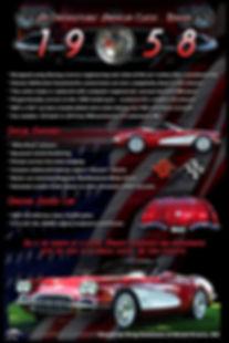 1958 Corvette Display Board, Display Boards, Corvette Displays, Corvette Boards, Corvette Signs, Corvette Artwork, Vintage Car Show Display Boards, Muscle Car Display Boards, Muscle Car Sign Boards, Ratrod Display Boards, photo artwork, Classic Car Show Display Boards, Classic Car Show Signage, Car Show Display Board Ideas, Automotive Artwork