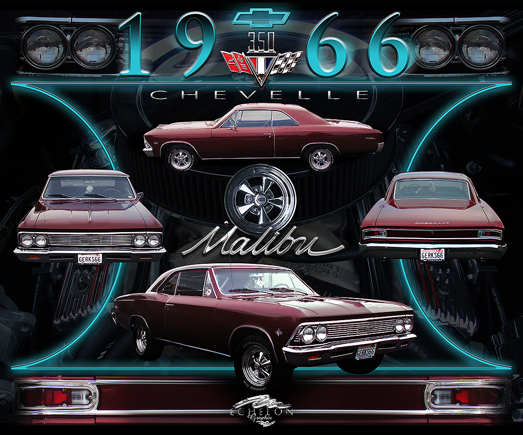 1966 Chevelle Malibu auto artwork