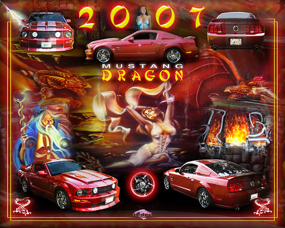 2007 Mustang Dragon artwork
