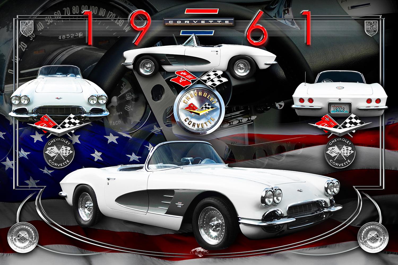 1961 Corvette Autographix Montage