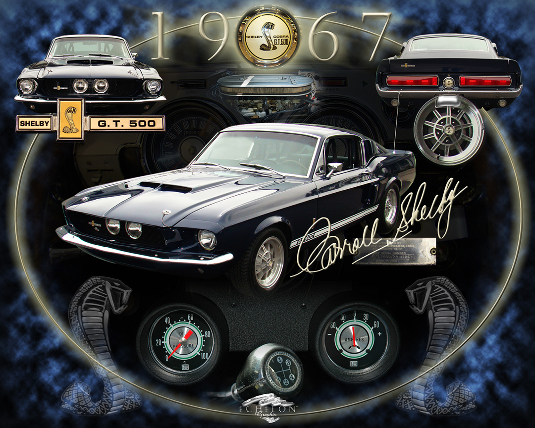 1967 Shelby GT 500 Auto artwork