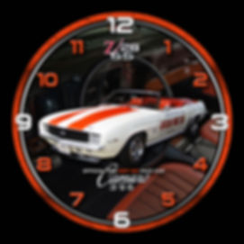 1969 Camaro Car Clock, car clocks, auto clocks, custom clock design, custom clocks