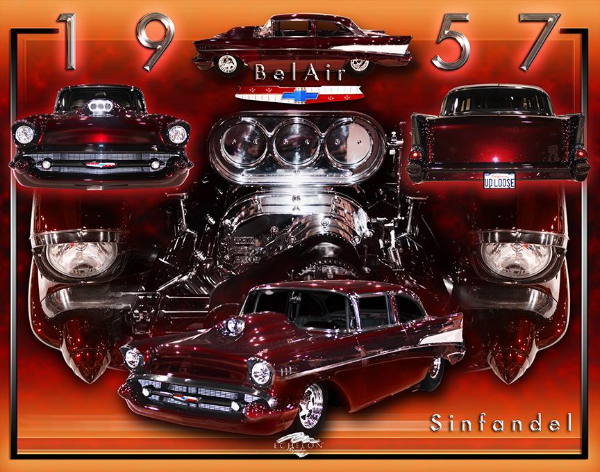 1957 Chevy BelAir 'Sinfandel'