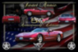 2003 50th Corvette Anniv. Artwork, Display Boards, Corvette Displays, Corvette Boards, Corvette Signs, Corvette Artwork, Vintage Car Show Display Boards, Muscle Car Display Boards, Muscle Car Sign Boards, Ratrod Display Boards, photo artwork, Classic Car Show Display Boards, Classic Car Show Signage, Car Show Display Board Ideas, Automotive Artwork