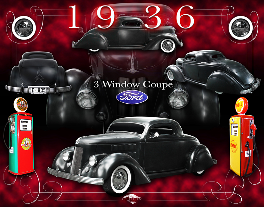 1936 Ford Coupe Autographix
