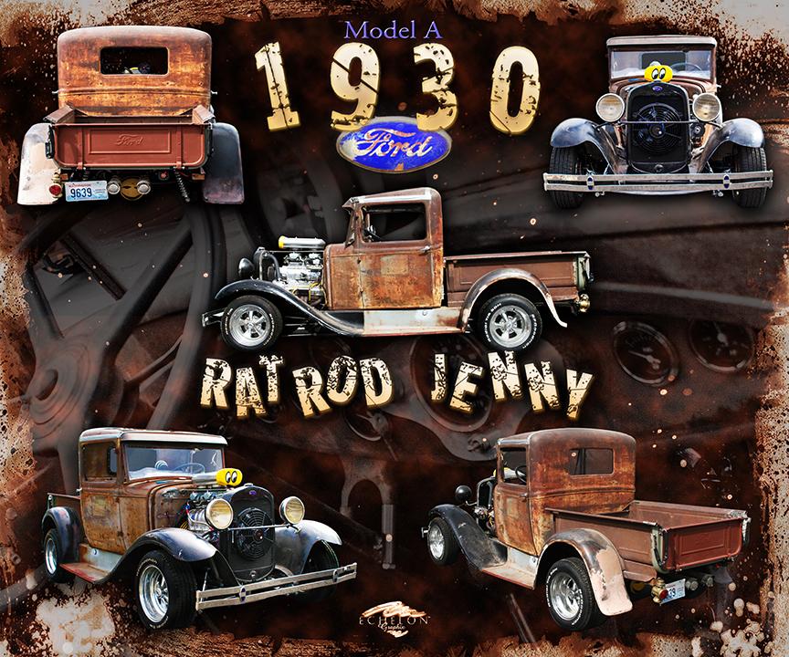 1930 Rat Rod Auto Montage