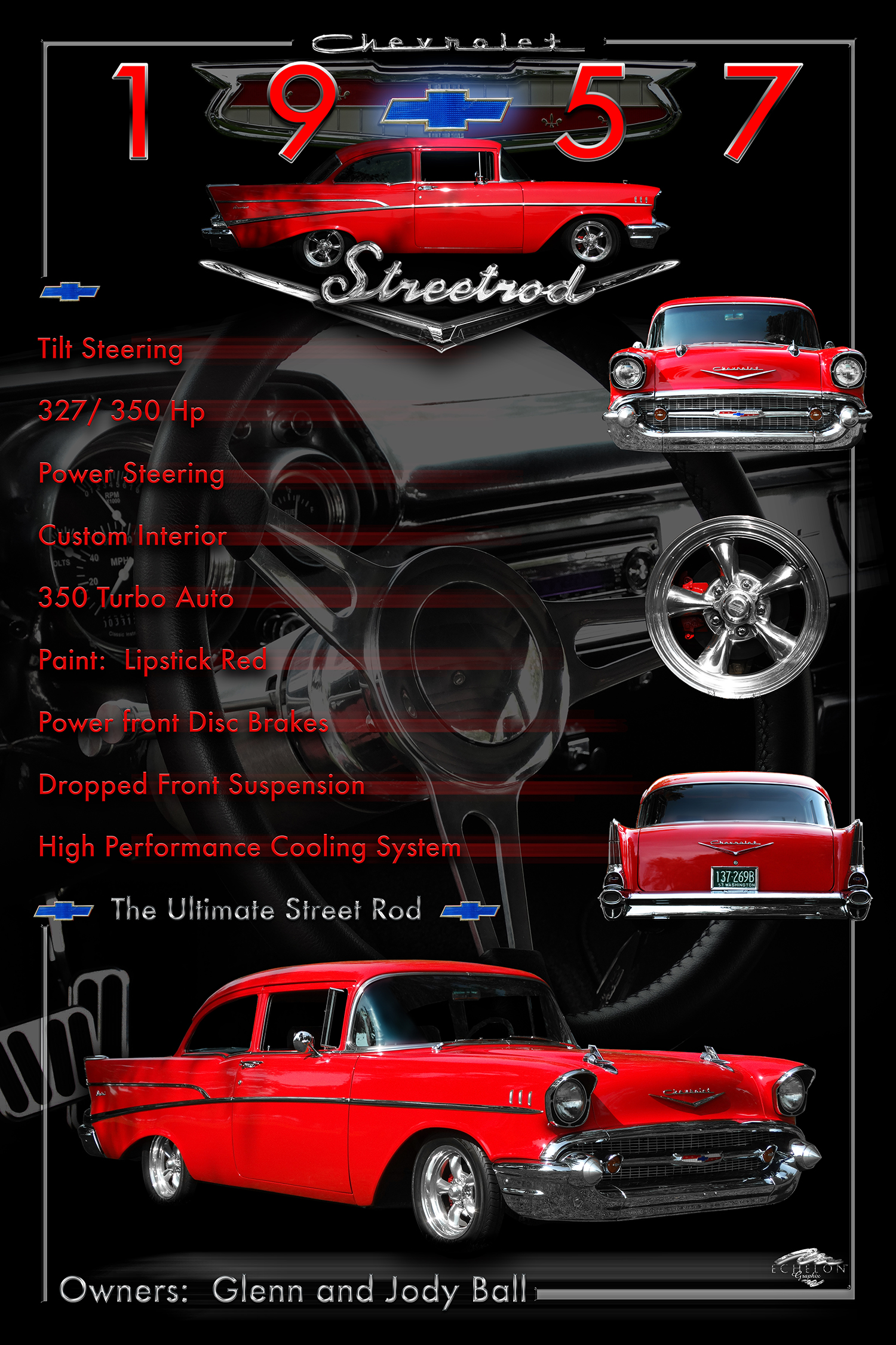 1957 Chevy Display Board