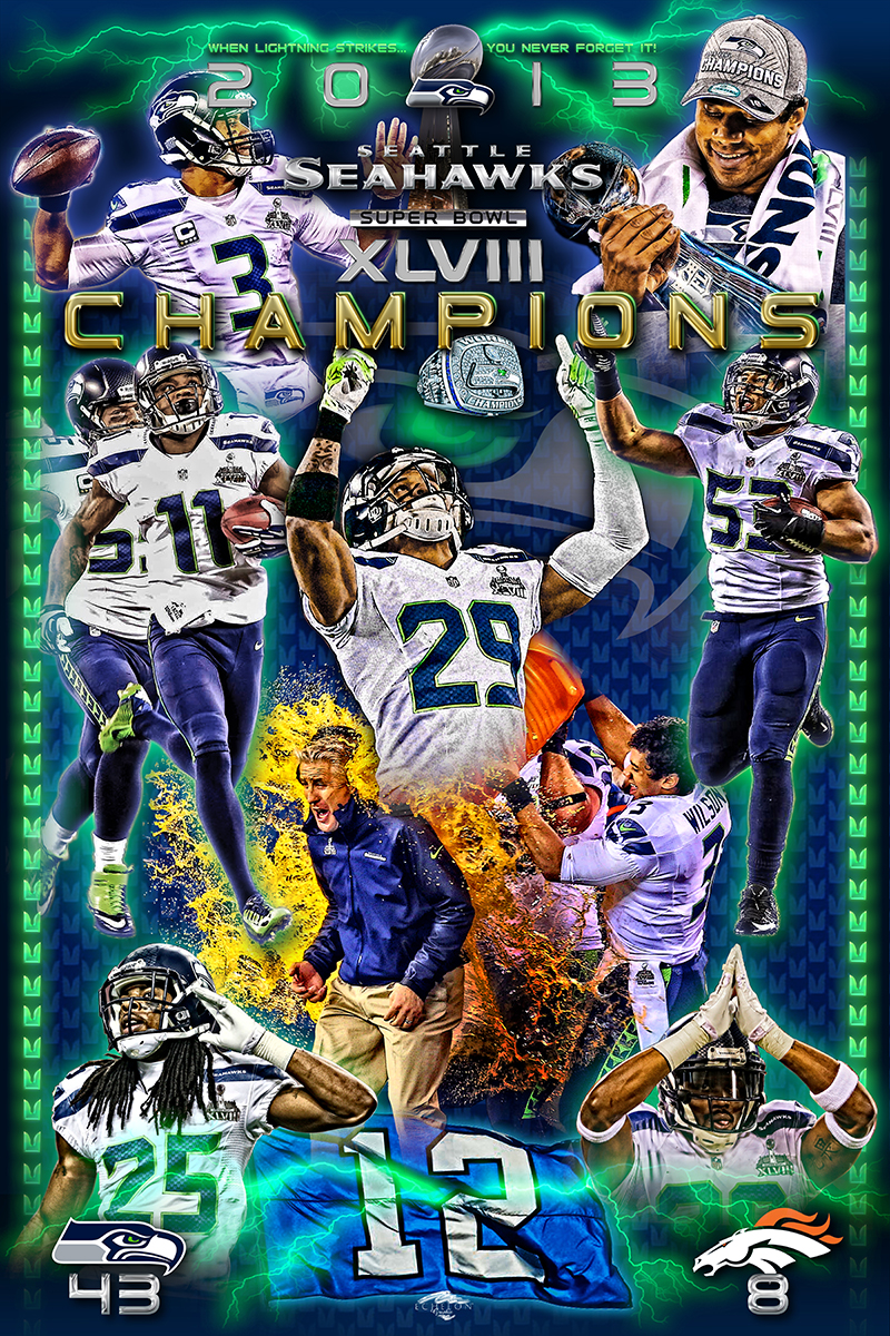 Seahawks Superbowl 48 Victory Poster