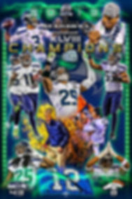 Superbowl 48 artwork, Seattle Seahawks Artwork, custom poster design, graphic design, illustration, logo design