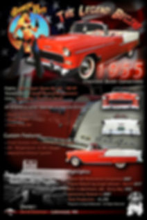 1955 Chevy Belair display board, auto artwork, graphic design, autographix, custom posters, Echelon Graphix, car shows, car show boards, car show displays, auto montage, mustang, shelby, corvette, chevy, chevelle, muscle cars, street rods, classic cars
