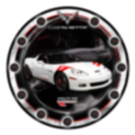 Corvette Custom Car Clock, car clocks, auto clocks, custom clock design, custom clocks
