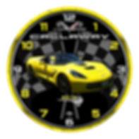 2014 Corvette Clock, car clocks, auto clocks, custom clock design, custom clocks