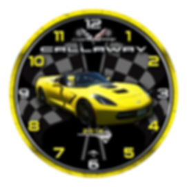 2014 Corvette Car Clock, car clocks, auto clocks, custom clock design, custom clocks