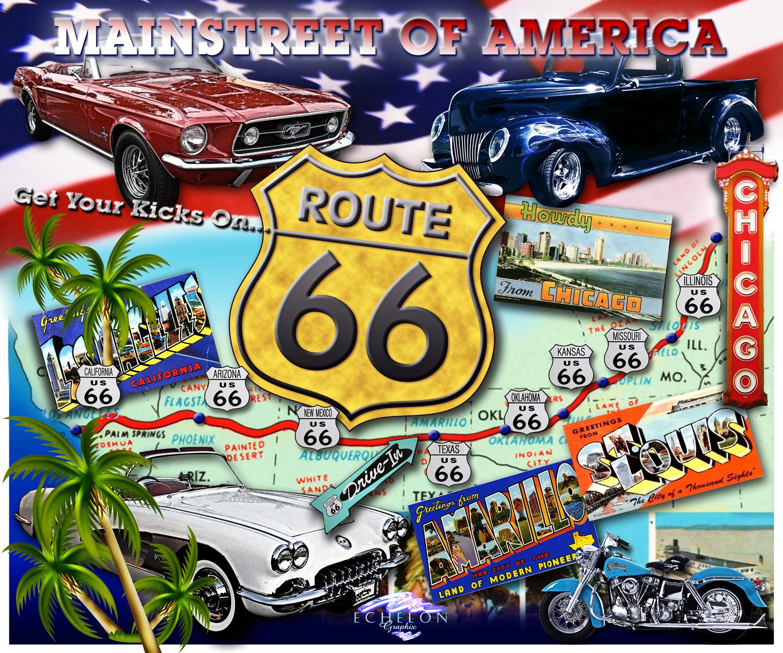 Nostalgic Route 66 Autographix