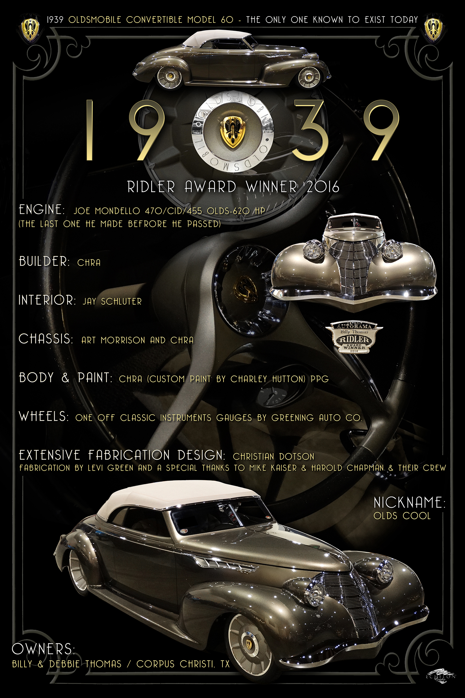 1939 OLDS Display Board