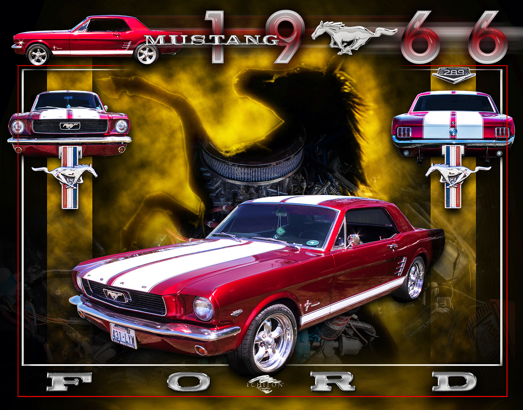 1966 Mustang Autographix Montage