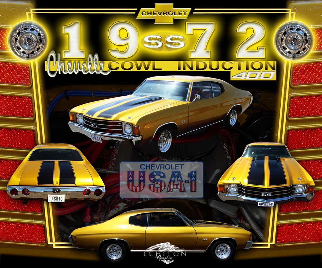1972 Chevy Chevelle SS auto artwork