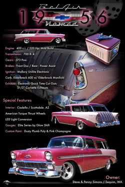 1956 Chevy Nomad Display Board
