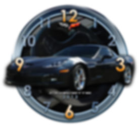 2013 Corvette Car Clock, car clocks, auto clocks, custom clock design, custom clocks