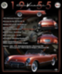 1955 Corvette Display Board, Display Boards, Corvette Displays, Corvette Boards, Corvette Signs, Corvette Artwork, Vintage Car Show Display Boards, Muscle Car Display Boards, Muscle Car Sign Boards, Ratrod Display Boards, photo artwork, Classic Car Show Display Boards, Classic Car Show Signage, Car Show Display Board Ideas, Automotive Artwork
