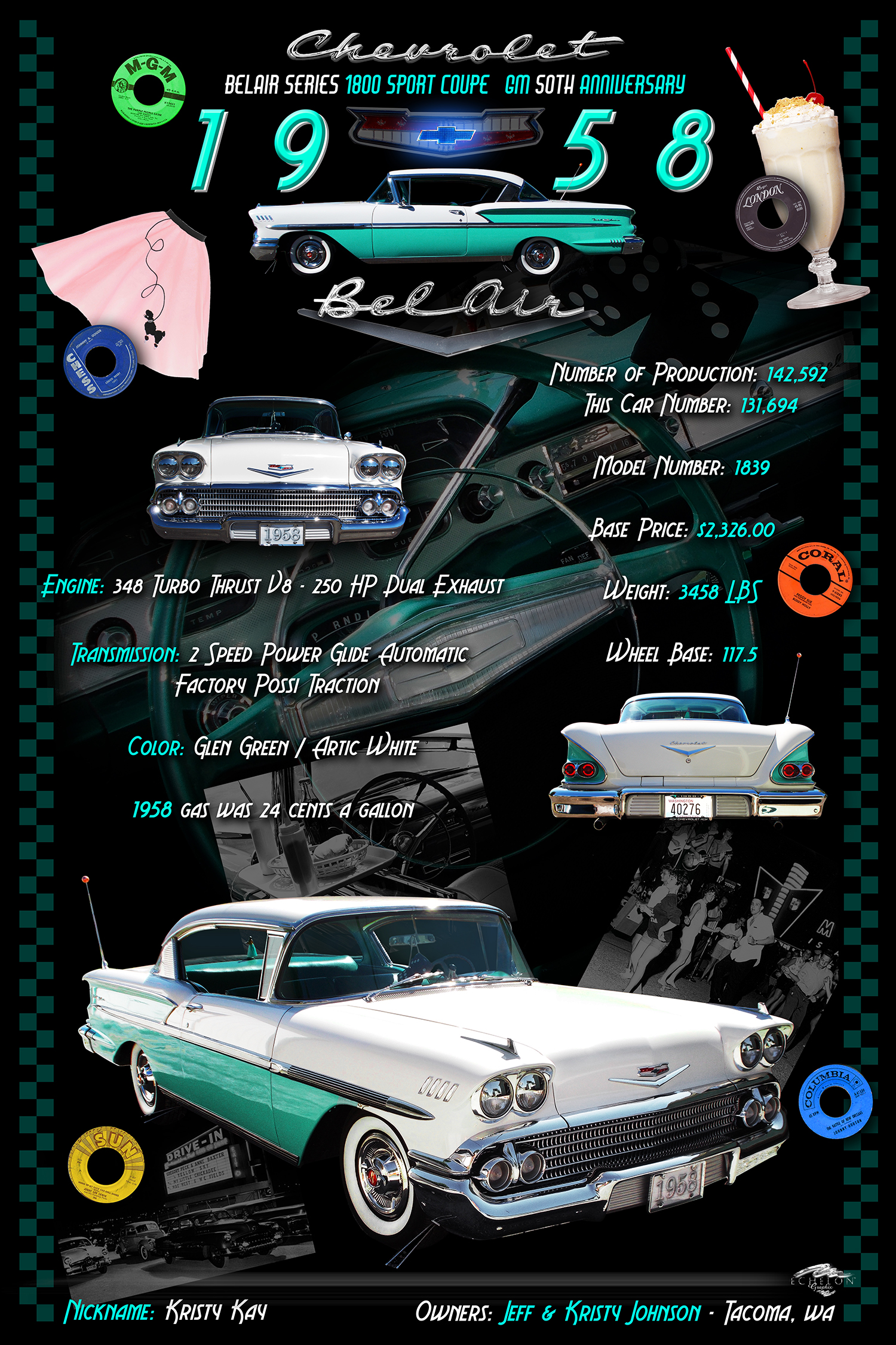 1958 Belair Display Board