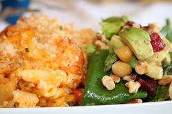 Bajan Macaroni and Shakk Salad