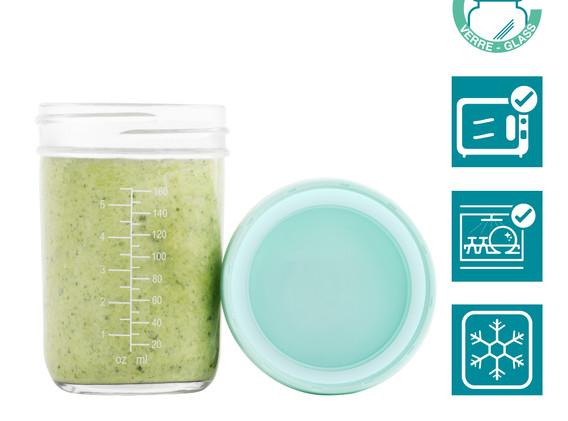 Babybols madbøtter af glas