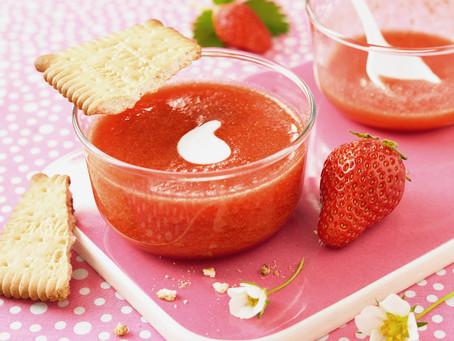 Jordbærsuppe med verbena