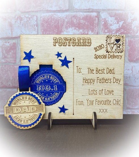 Personalised Fathers Day Postcard