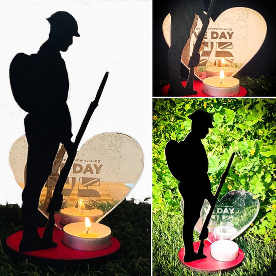 Silhouette War Memorial Remembrance Tommy Soldier Figure