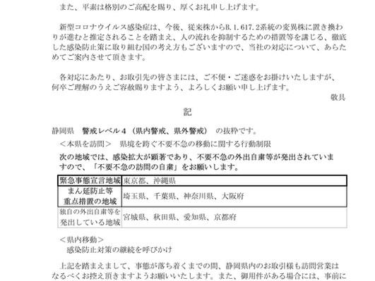 新型コロナウイルス感染予防対策について(7月12日~)