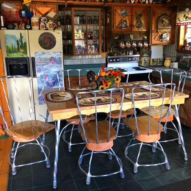 Blacksmithed Table Set