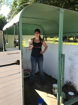 Not For The Faint of Heart: a horse trailer bar
