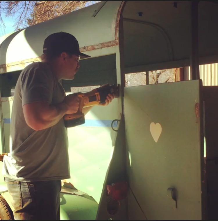 horse trailer bar conversion