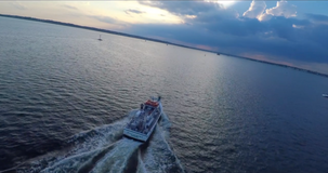 Aerial shot from commercial Fishing boat shoot