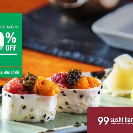 20% OFF | 99 Sushi Bar Abu Dhabi