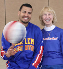 Harlem Globetrotters El Gato Teaches Safety To School Children