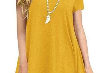 Mustard Lace Trim Tunic