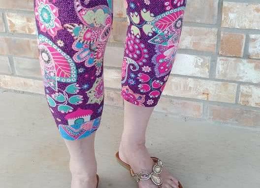 Purple Paisley Capris