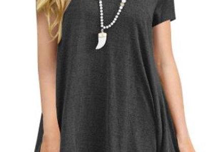 Black Lace Trim Tunic